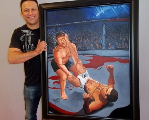 Renzo Gracie with MMA Painting