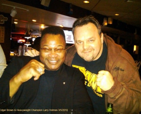 Edgar Brown and Larry Holmes Heavyweight Champion