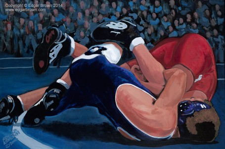 Achievement Wrestling Painting