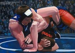 Determination Wrestling Painting