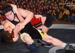 Perseverance Wrestling Painting