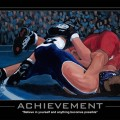 Achievement Motivational Wrestling Poster