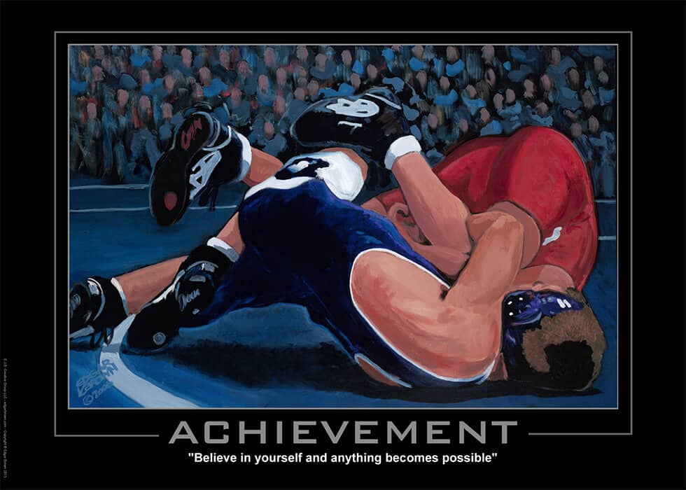 Achievement Motivational Wrestling Poster
