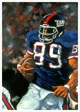 Mark Bavaro Football Painting