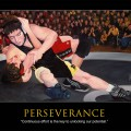 Perseverance Motivational Wrestling Poster