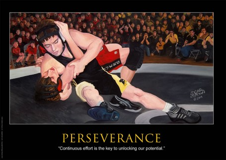 Perseverance Motivational Wrestling Poster