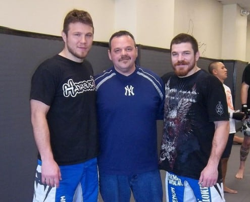 Edgar Brown and MMA Fighters Dan and Jim Miller
