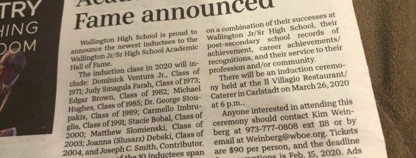 Wallington High School Hall of Fame