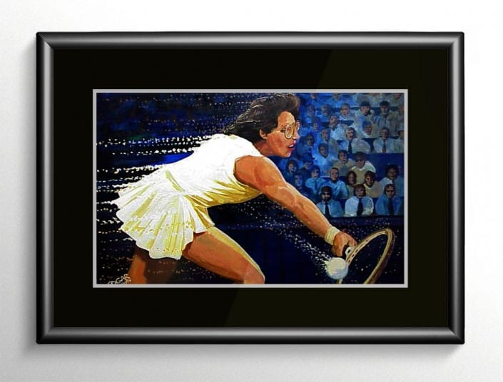 Billie Jean King Painting