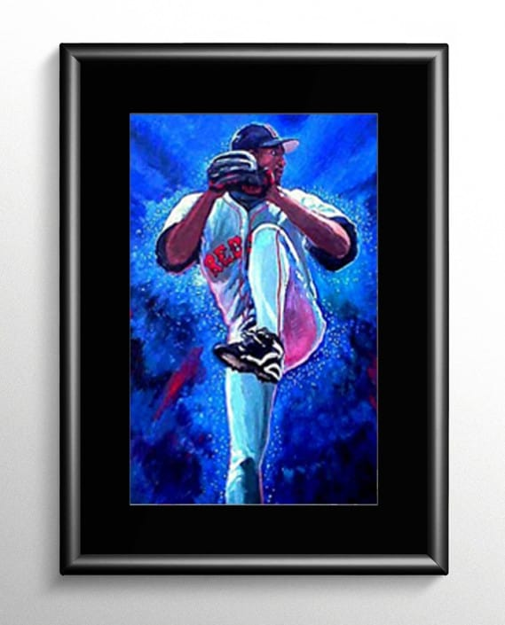 Pedro Martinez Baseball Painting