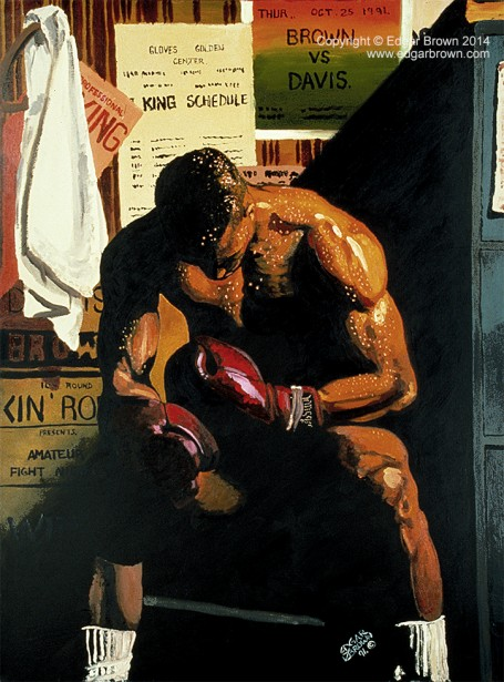 Boxing Painting The Loss by Edgar J Brown
