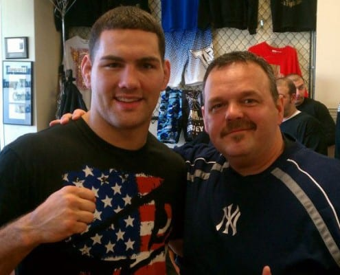 UFC Champion Chris Weidman and Edgar Brown