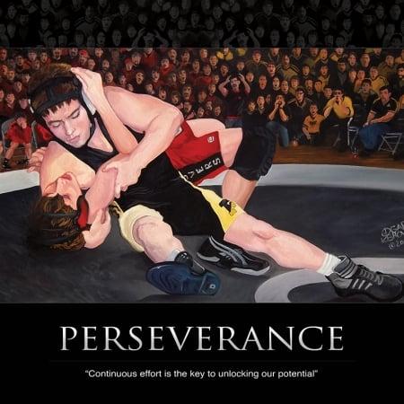 Wrestling Perseverance Print