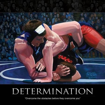 Wrestling Determination Print