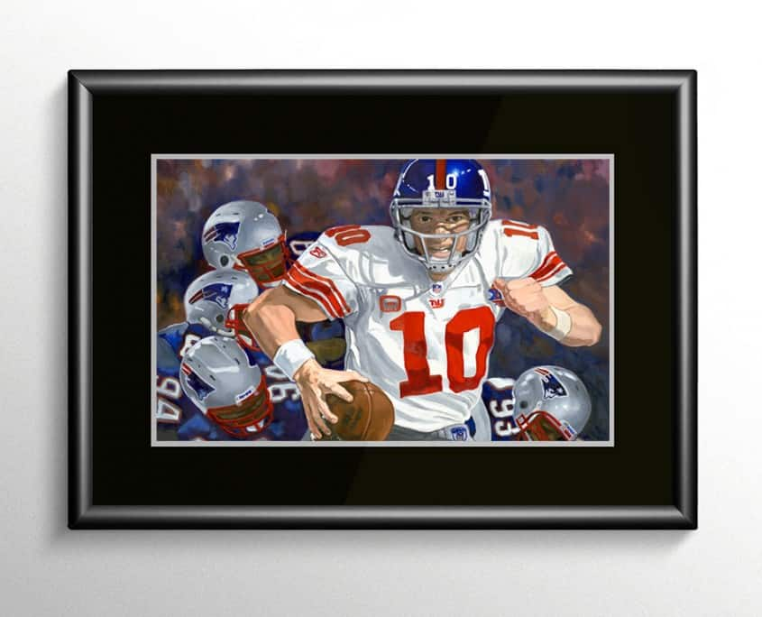 Eli Manning Super Bowl MVP Painting
