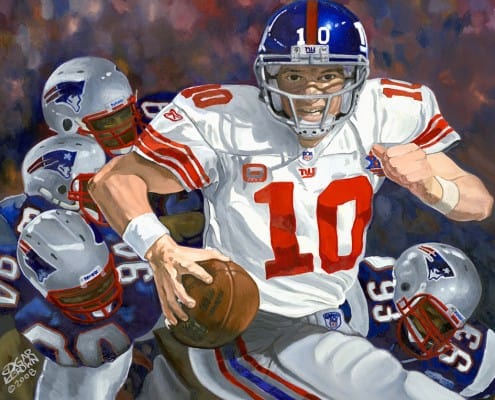 New York Giants Eli Manning Artwork