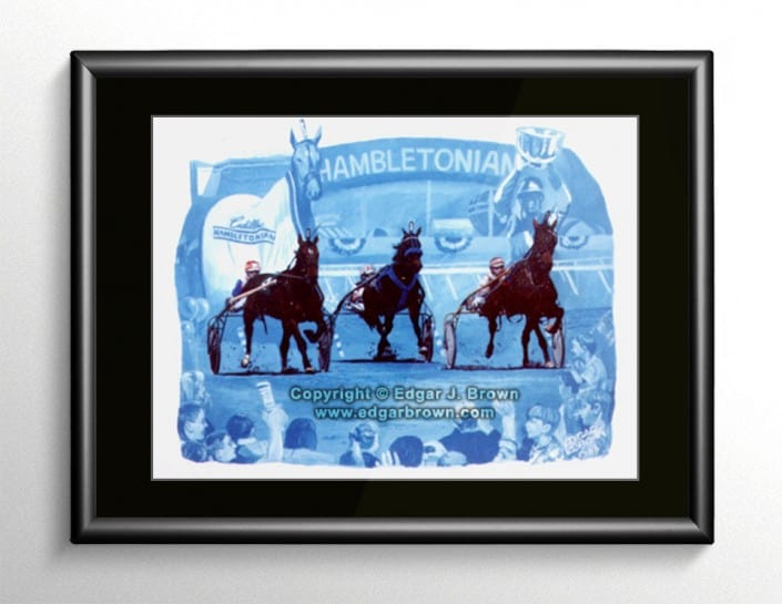 Harness Racing Painting Hambletonian 1996