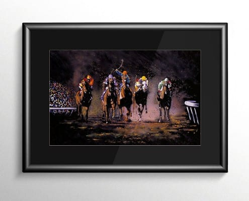 The Long Shot Horse Racing Painting
