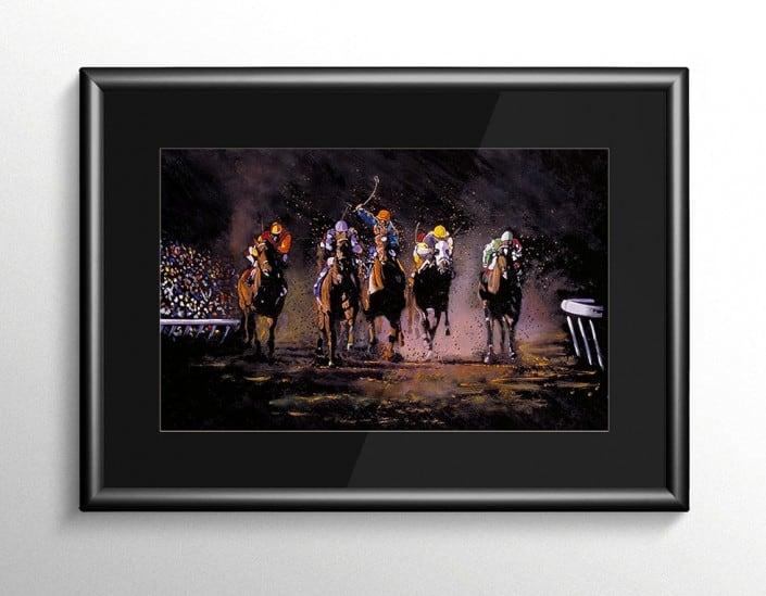 The Long Shot Horse Racing Painting