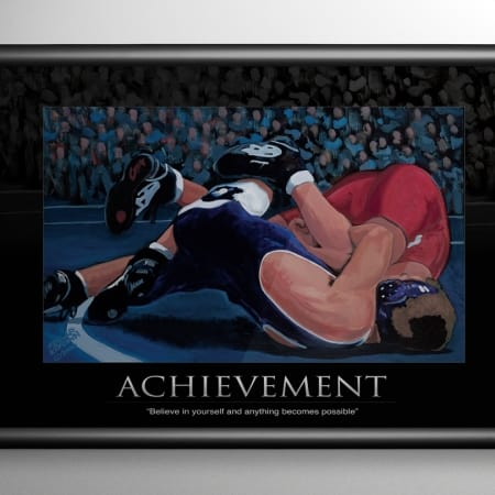 Wrestling Achievement Print