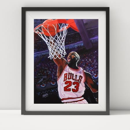 Jordan framed-white