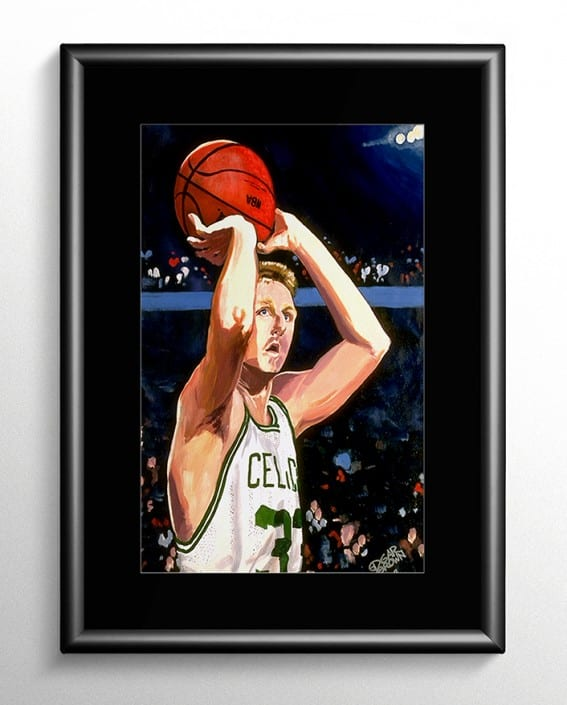 Larry Bird Basketball Painting