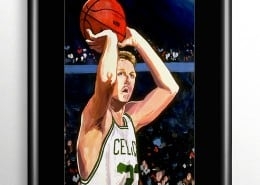 Celtics Larry Bird Painting