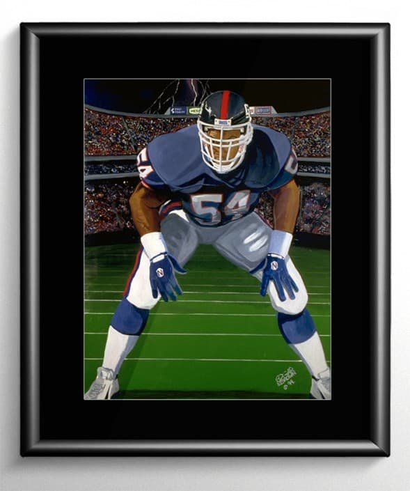 NY Giants Linebacker Painting
