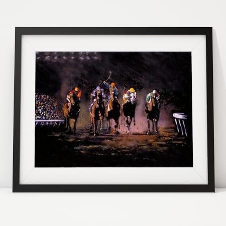 Horse Racing Painting - The Long Shot