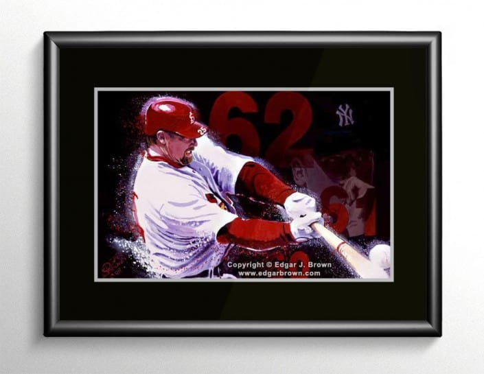 Mark McGwire Baseball Painting