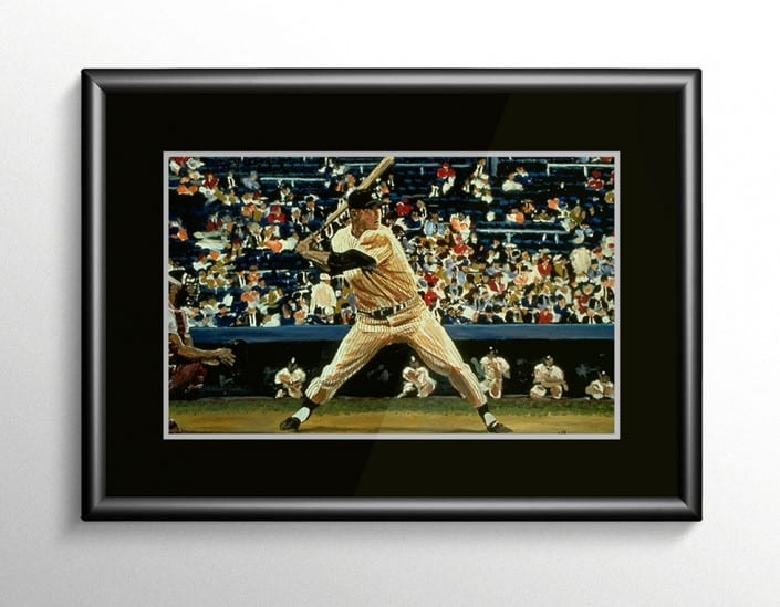 Mickey Mantle Baseball Painting