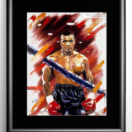 Mike Tyson Boxing Painting