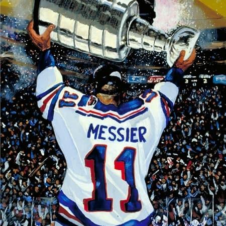 Mark Messier Hockey Painting
