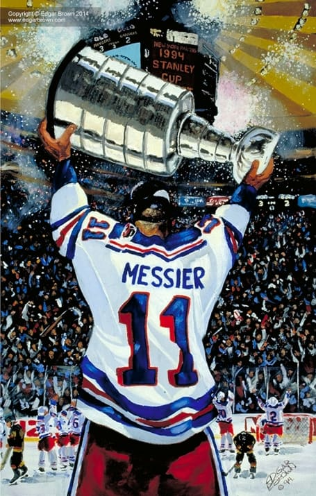 Mark Messier Hockey Painting
