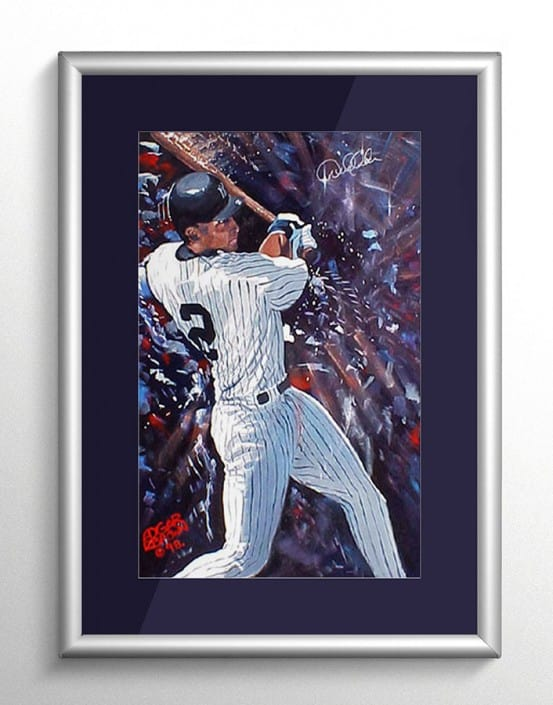 NY Yankees Derek Jeter Sports Art