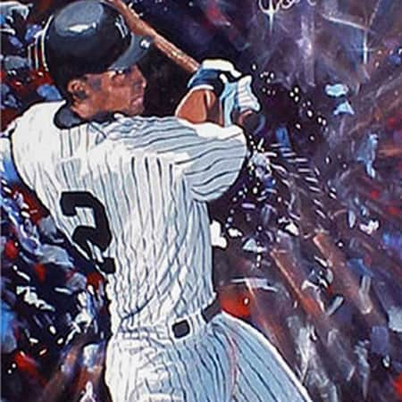 NY Yankees Derek Jeter Artwork