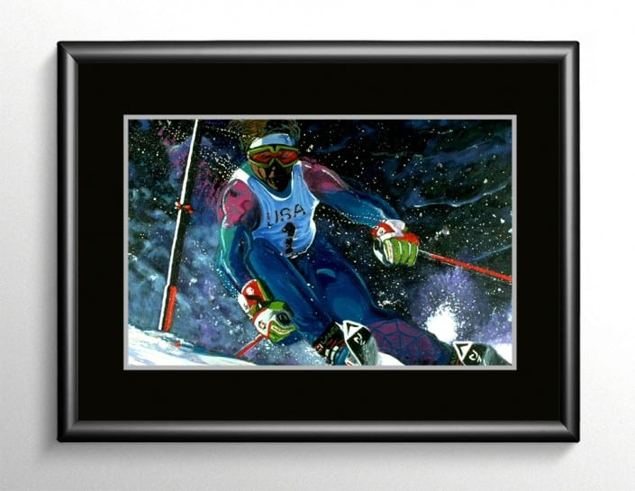 Winter Olympics Painting