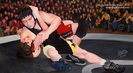 Perserverance Wrestling Painting