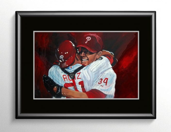 Roy Halladay Baseball Painting