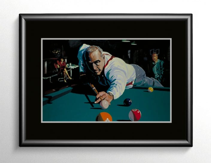 Pool Billiards Painting