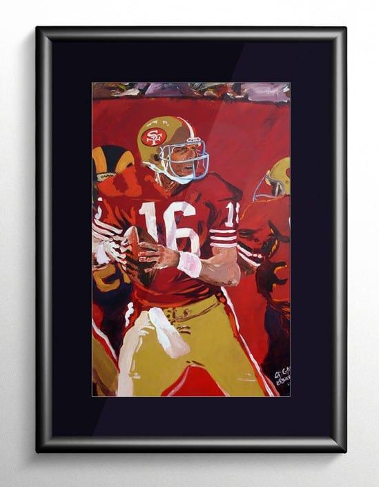 Joe Montana Painting