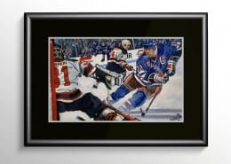 Mark Messier Sports Art Painting