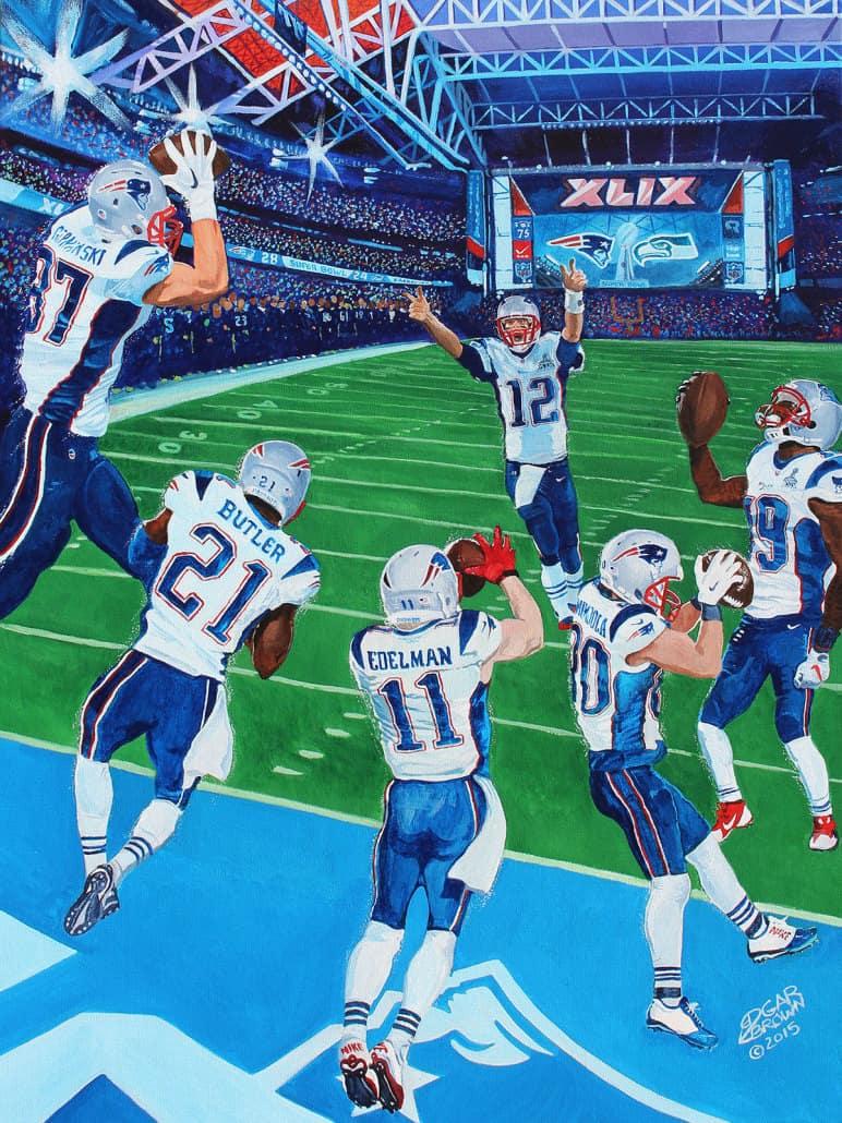 Sports Art Paintings By Artist Edgar J Brown