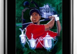 Tiger Woods Grandslam Painting