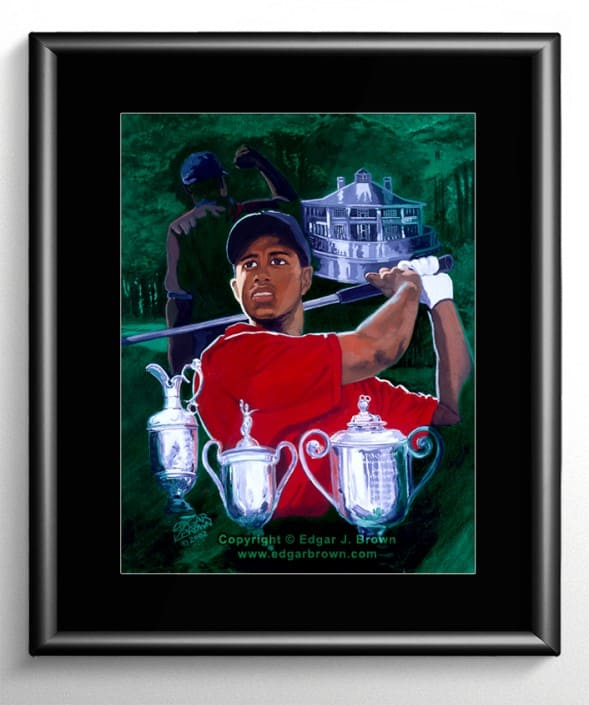 Tiger Woods Grandslam Painting