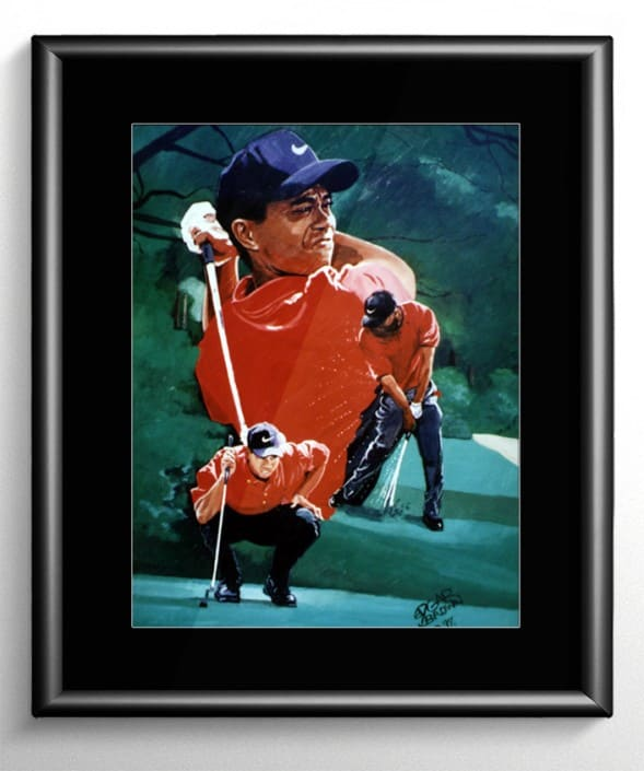Tiger Woods Golf Painting