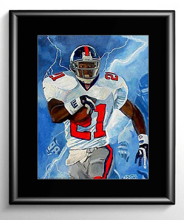 Tiki Barber Painting