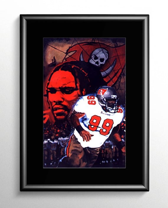 Warren Sapp NFL Painting
