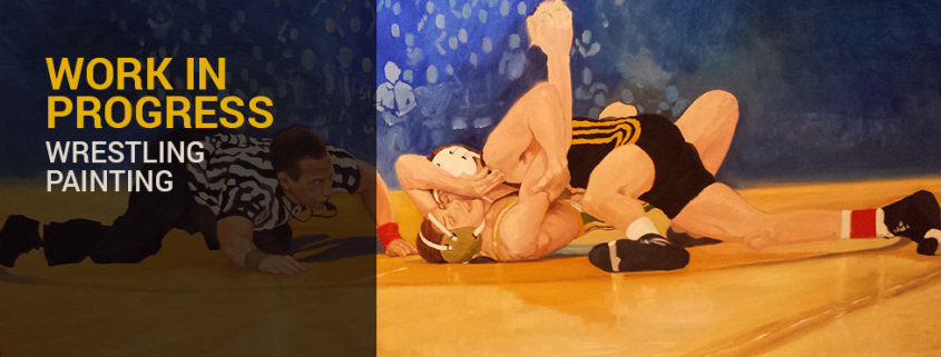 Work on Progress - Wrestling Painting