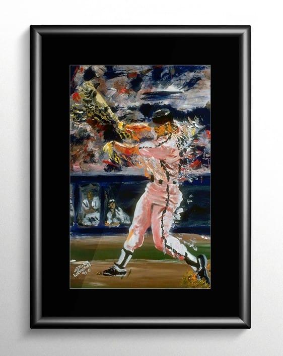 Baseball Slugger Painting